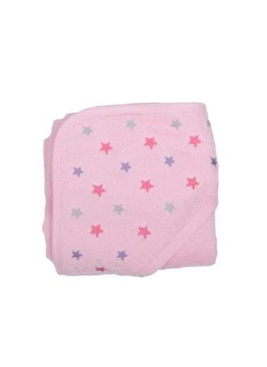 Cigit Cıgıt Yıldız Nakışlı Kız Bebek  Havlu Pembe